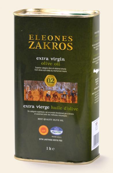 ELEONES ZAKROS Extra natives Olivenöl aus Kreta 1 L