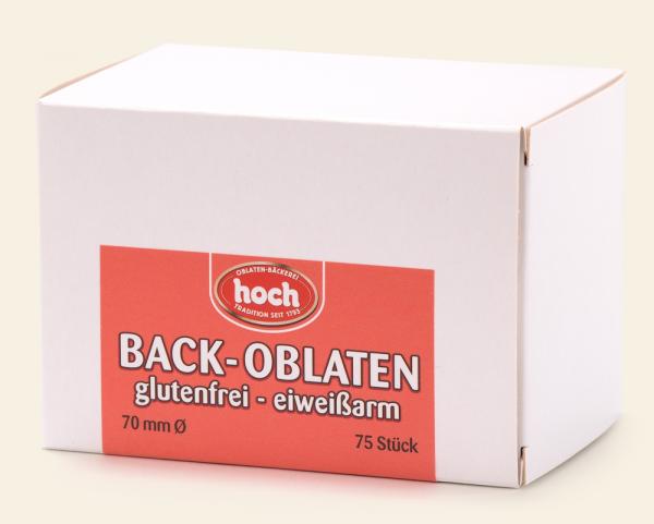 Hoch Back-Oblaten