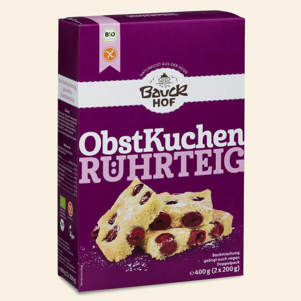 Bauckhof Backmischung Obstkuchen-Rührteig